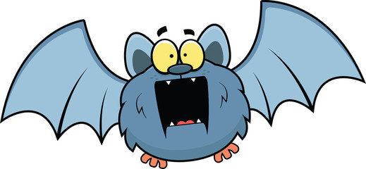 Cartoon Bat Surprised