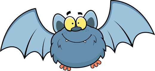 Cartoon Bat Happy
