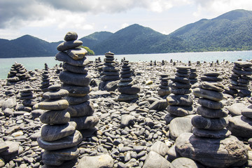 Beautiful pebble on island Lipe