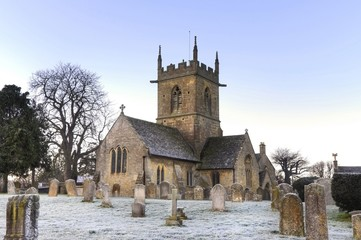 Cotswold church in winter