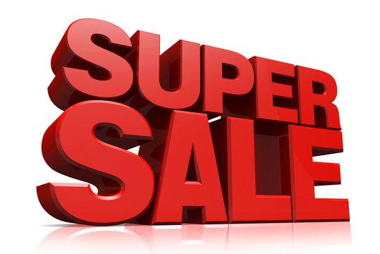 3D red text super sale