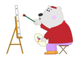 熊の画家さん