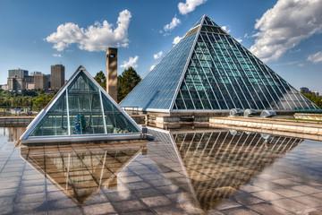 Glass Pyramids in Edmonton, Alberta, Canada