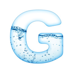 One letter of water wave alphabet