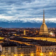 Torino al tramonto, Italia