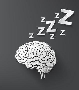 vectorof sleep concept with brain.