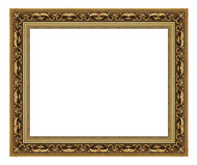 Picture Frame antique isolated on white background