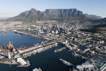 Wall Murals South Africa Cape Town - Aerial View