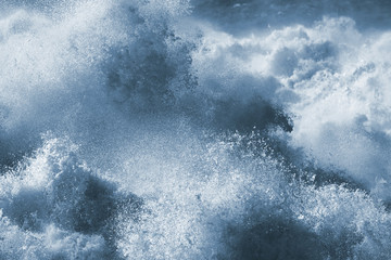 Photo sur Aluminium Eau Big wave closeup