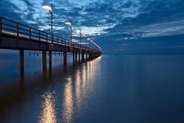 Sunriseat the beach, Machalinki Poland