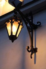 nice lantern on the wall