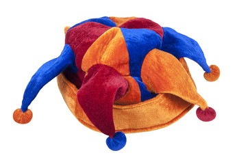 Joker Cap of Red Blue and Orange