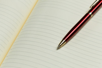 Notepad and pen