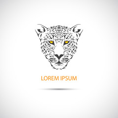 The head of the leopard for the label. Vector.