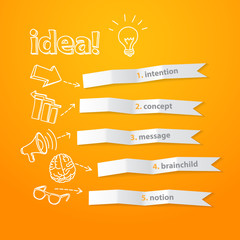 Inspiration idea concept modern design template