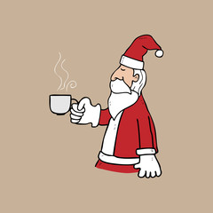 Santa and cup of tea