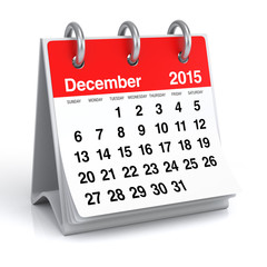 December 2015 - Calendar