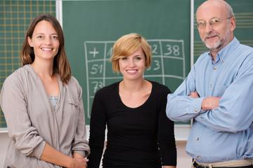 drei kollegen in der schule