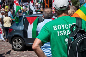 Mulhouse  2 august 2014 - peace between Israel and Palestine