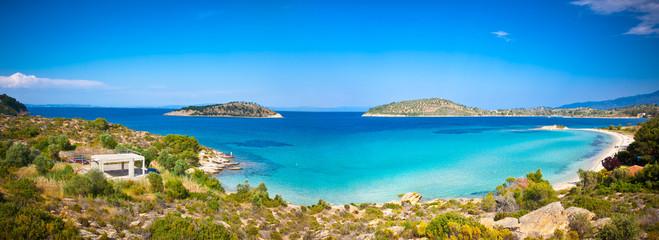 Lagonisi beach on Sithonia Halkidiki, Greece.
