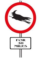 Witches Ahead Sign