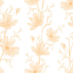 Spring style seamless background.