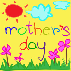 greeting card background for Mother's Day