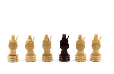 Chess figure isolated on the white
