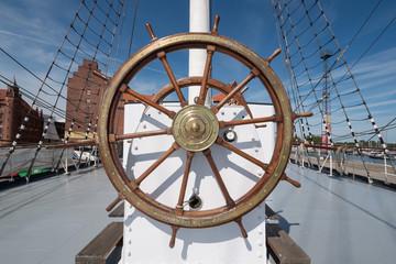 Steering Wheel of the Gorch Fock I, Stralsund