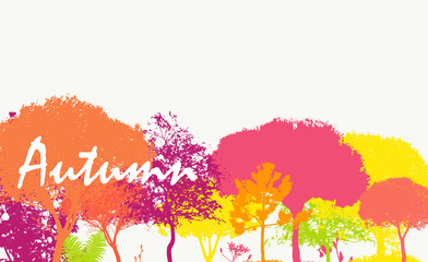 Abstract Autumn Natural Background Vector Illustration