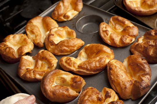 Traditional English Yorkshire puddings
