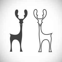 Vector image of an deer
