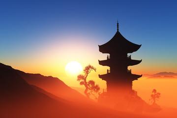 Fototapeta Chinese home