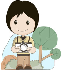 photographer take a picture vector