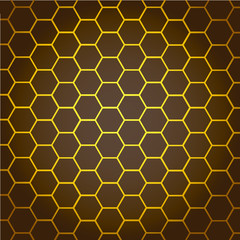 Abstract Background honeycombs