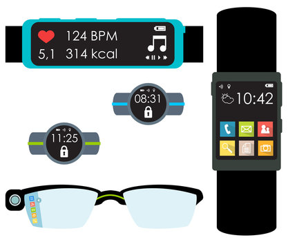 Isolated wearables vector
