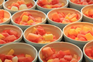 Fresh sliced fruit