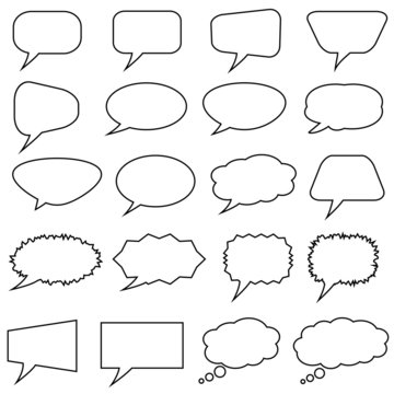 Sprechblasen leer