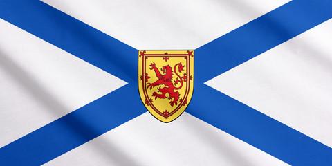 Waving flag of Nova Scotia