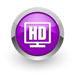 hd display pink glossy web icon