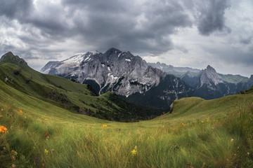Marmolada mountains ridge