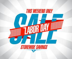 Labor day sale retro design.