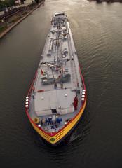 Cargo ship in the river Rhine