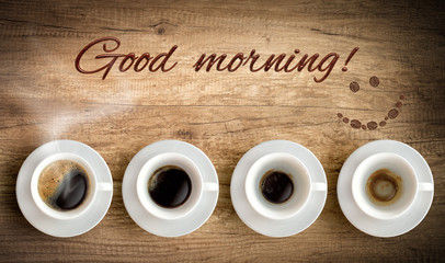 cup of coffee and good morning