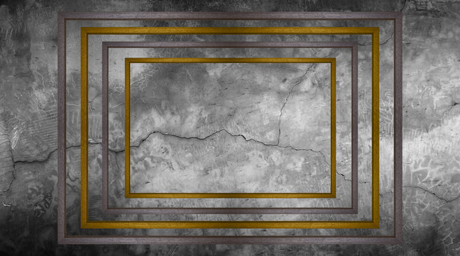 frame on wall for background texture