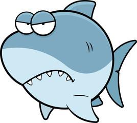 Cartoon Shark Angry