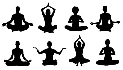 meditation silhouettes Wall mural