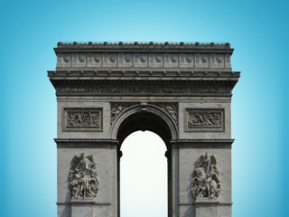 Fototapete - Paris arc de Triomphe on the Champs Elysees, France