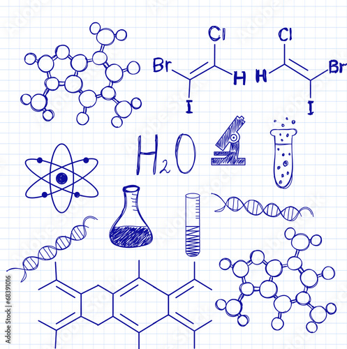 Drawing in a notebook chemistry stock image and royalty free drawing in a notebook chemistry ccuart Choice Image