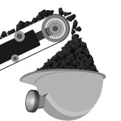 Coal Miners belt and helmet